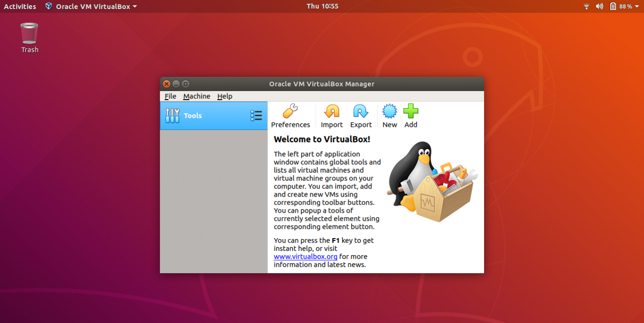"如何在Ubuntu 18.04上安裝VirtualBox"" width ="" 1357"" height ="" 681"" srcset ="" https://linux4one.com/wp-content/uploads/2019/02/How-to-Install-VirtualBox-on- Ubuntu -18.04.png 1357w,https://linux4one.com/wp-content/uploads/2019/02/How-to-Install-VirtualBox-on-Ubuntu-18.04-300x151.png 300w,https:// linux4one。 com /wp-content/uploads/2019/02/How-to-Install-VirtualBox-on-Ubuntu-18.04-768x385.png 768w,https://linux4one.com/wp-content/uploads/2019/02/How -to-Install-VirtualBox-on-Ubuntu-18.04-1024x514.png 1024w"" data-lazy-sizes =""(最大寬度:1357px)100vw,1357px"