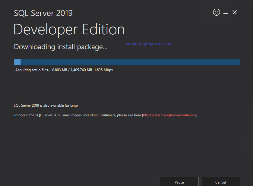 在Windows Server 2019上安装SQL Server 2019 Developer Edition
