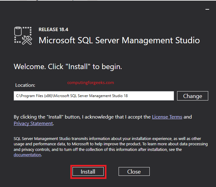 在Windows 10上安装和配置SQL Server Management Studio 18.4