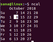 Linux ncal命令