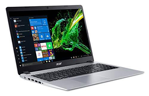Acer Aspire 5 Slim筆記本電腦,15.6英寸全高清IPS顯示屏,AMD Ryzen 3 3200U,Vega 3 Graphics,4GB DDR4、128GB SSD,背光鍵盤,S模式下的Windows 10,A515-43-R19L,銀色