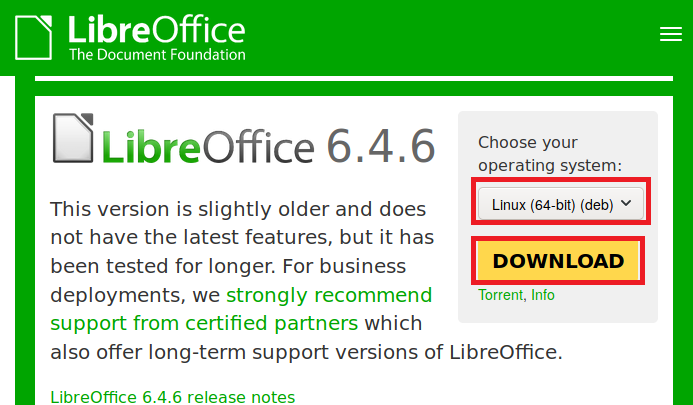 下载LibreOffice
