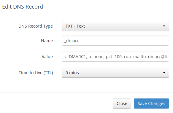 create dmarc record txt