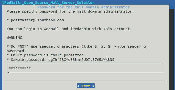 debian 10 email server step by step