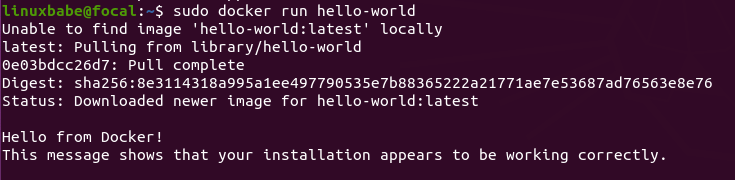 sudo docker运行hello-world