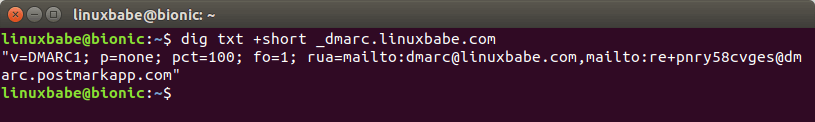 dmarc record check on linux