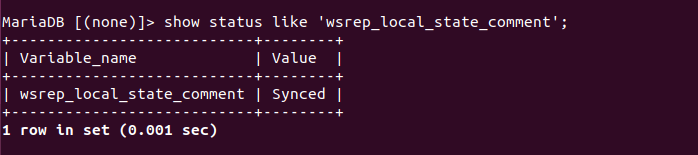 wsrep_local_state_comment