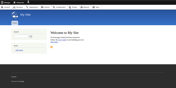 Welcome to your Drupal website