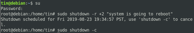 How to reboot Debian using the command line