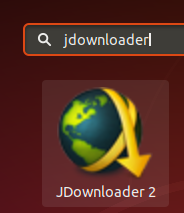 Search for JDownloader in Dash