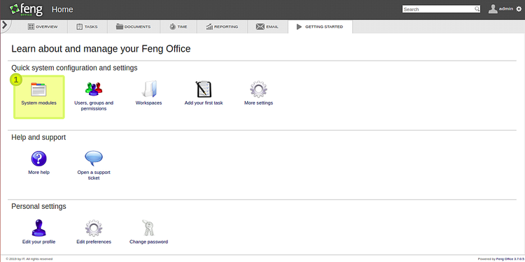Feng Office Dashboard