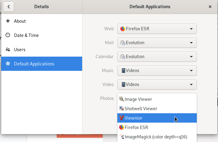 Install Viewnior as your default image viewer on your Debian GNOME desktop