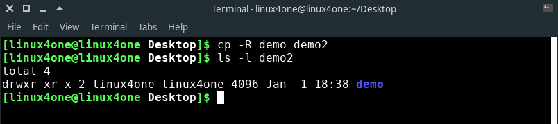 Copy file using cp command in Linux