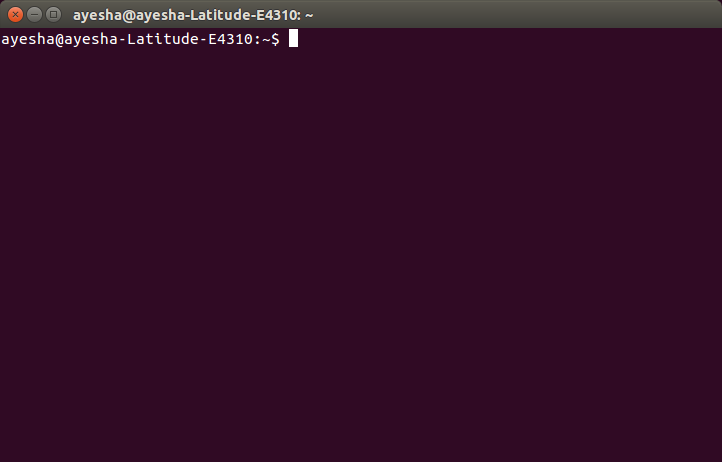 The terminal is ready to use.