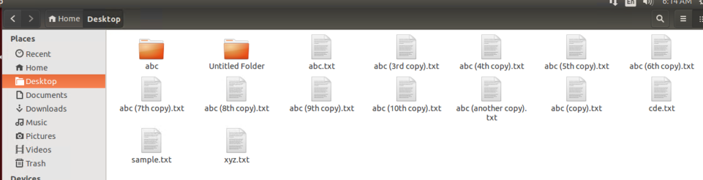Files created successfully using touch