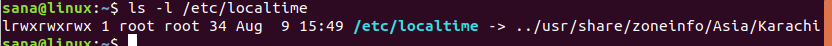 Get local time setting