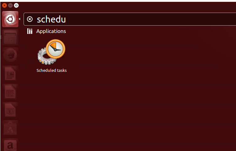 Search for Gnome Schedule Application