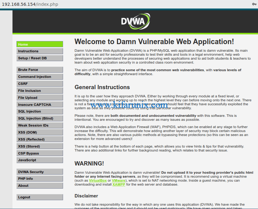 Install and set up DVWA on CentOS 8