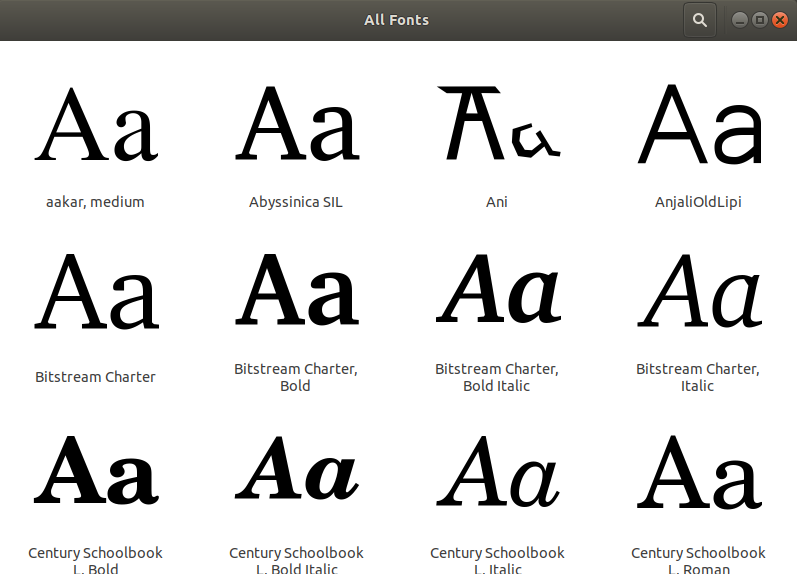 Gnome Fonts Browse Fonts
