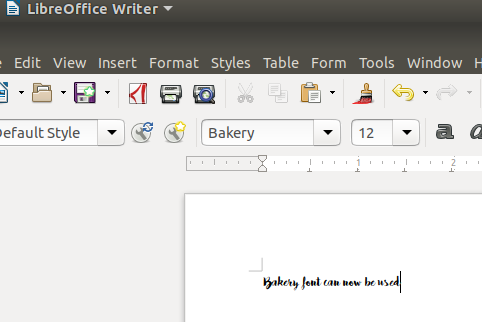 Font Now Available in LibreOffice