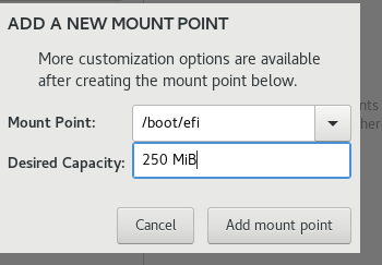 Create boot EFI partition