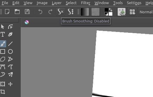 Sketch like Pro in Krita Disabled Stabilizer
