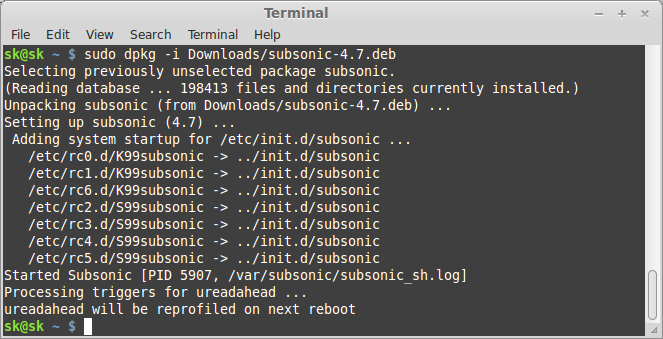 Subsonic – Setup your own streaming media server