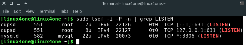 How to check if a port is open in Linux