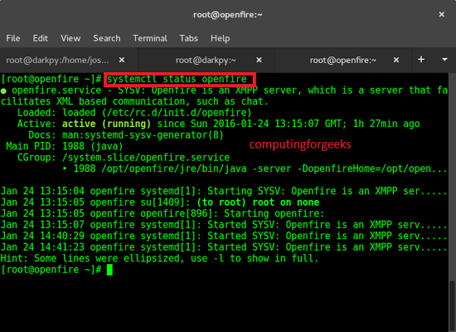 Complete guide on how to install Openfire XMPP chat server on Centos 7.x