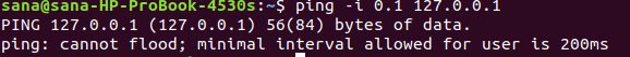 Increase / decrease the interval between ping packets