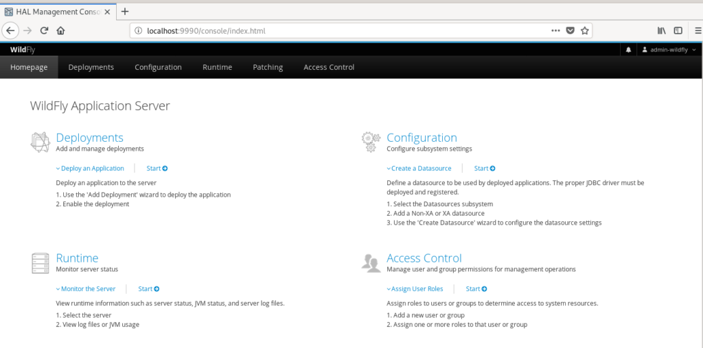 Wildfly Admin Panel