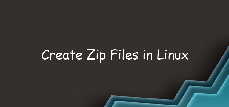 How to create a Zip file on Linux