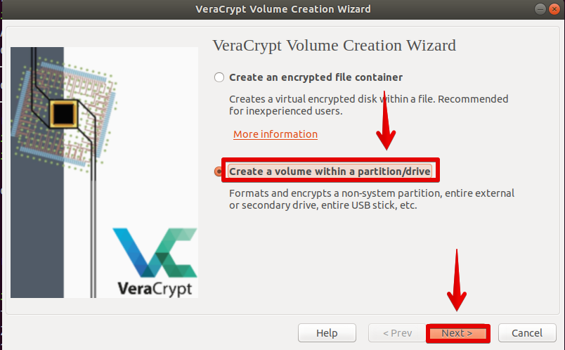 Create Volume in Partition / Disk
