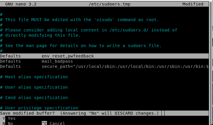 Save the changes to the configuration file