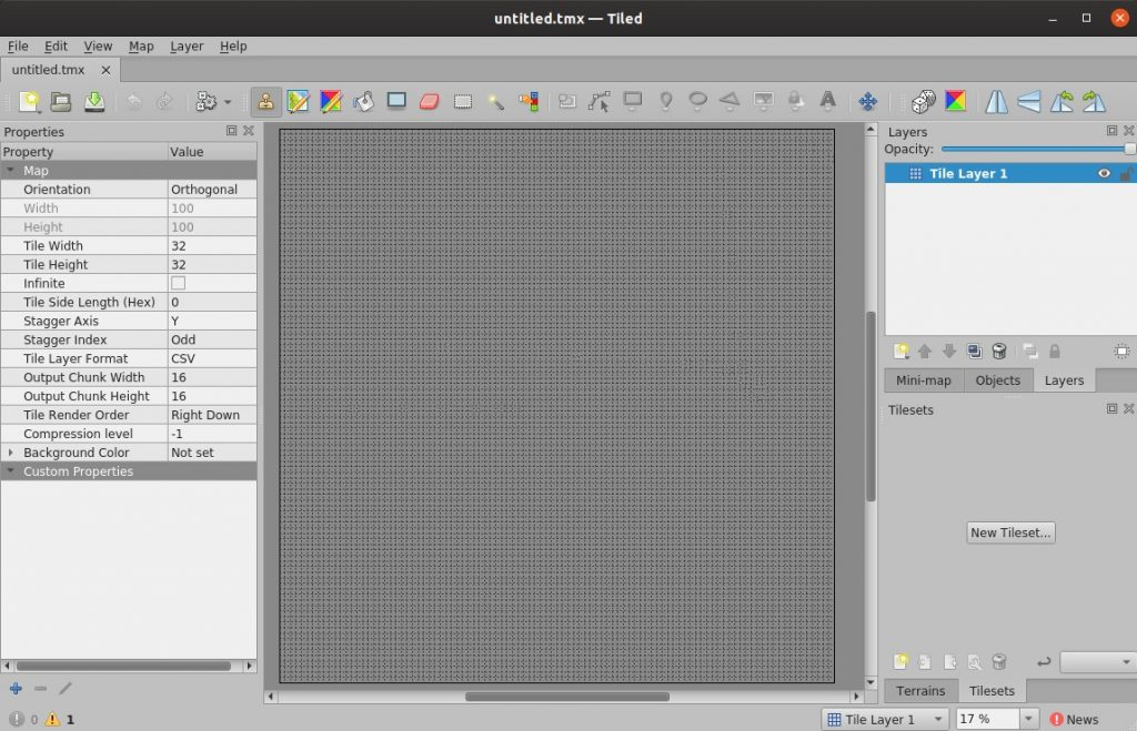 How to install Tiled on Ubuntu – Map Editor for Tile based Games