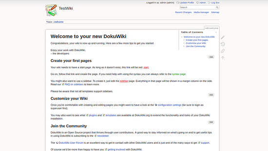 Welcome to DokuWiki