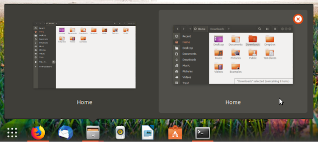 Old window preview from Gnome Shell Dash to Panel