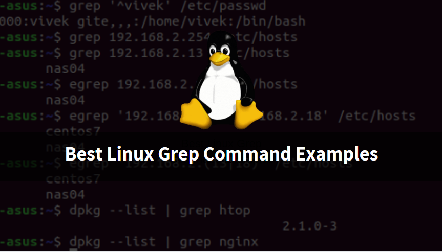 Best examples of Linux grep commands