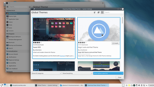 Plasma 5.18 LTS has been released! How to install on KUbuntu 19.10