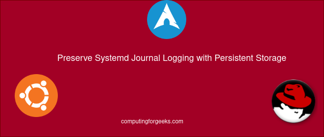 Retain system journal records with persistent storage