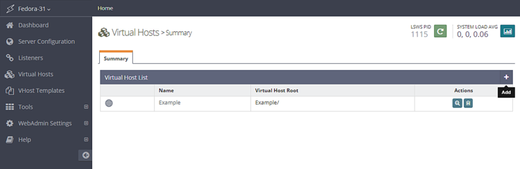 Adding a virtual host