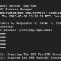Verify the status of php-fpm