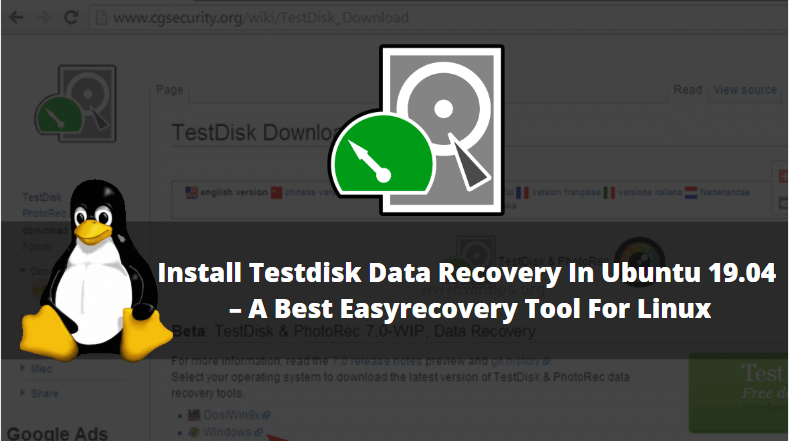 How to Install Testdisk Data Recovery in Ubuntu 19.04 - A Best Easy Recovery Tool for Linux