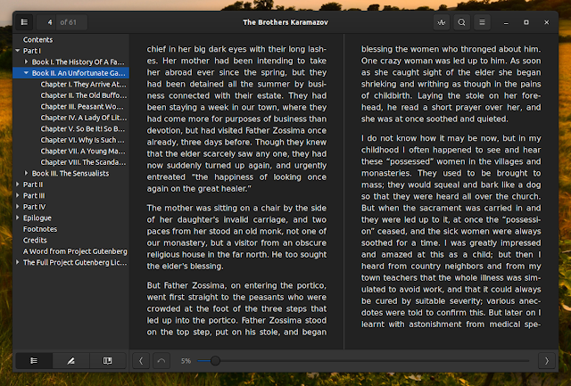 Foliate Linux eBook Reader 1.4.0 includes Wikipedia lookup, Google Translate support