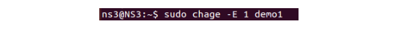 Enable user with chage command