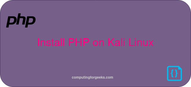 How to install PHP 7.4 on Kali Linux