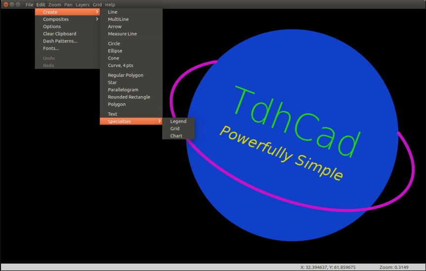 How to Install TdhCad on Ubuntu – Vector Graphics and Graphing