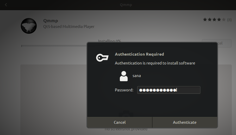Authenticate as administrator