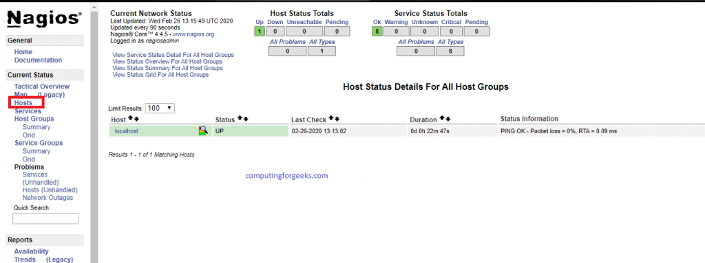 Install and configure Nagios on Debian 10 (Buster)