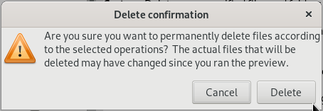 Confirm file deletion
